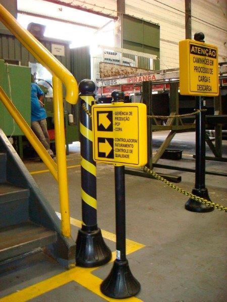 Isolamento e sinalização de segurança